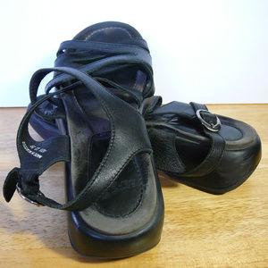 Dansko Lolita platform sandals black size 39